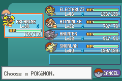 Pokemon Fire Red Omega - My team after Erika  - User Screenshot
