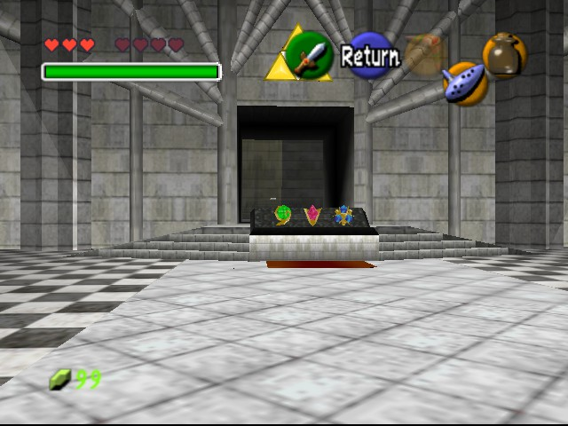 The Legend of Zelda - Ocarina of Time - Level  - temple of time - User Screenshot