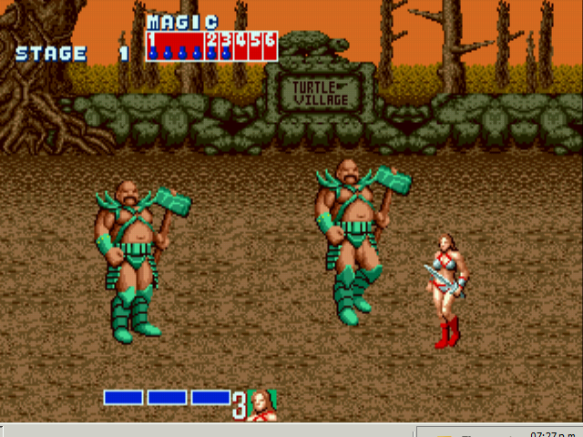 Golden Axe - first boss - User Screenshot