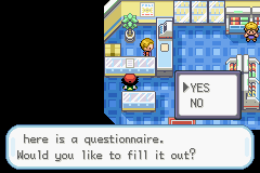 Pokemon Ash Gray (beta 2.5z) - step 2 of the blue bar glitch. p.s choose yes - User Screenshot