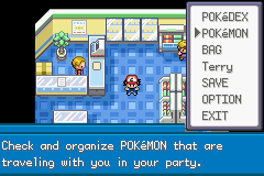 Pokemon Ash Gray (beta 2.5z) - step 4. open the menu - User Screenshot
