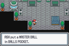 Pokemon Light Platinum - master ball glitch - User Screenshot