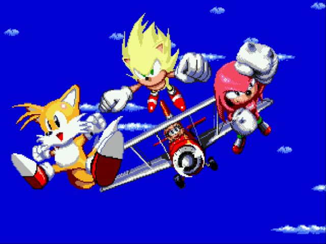 Sonic 2 Heroes - team super - User Screenshot