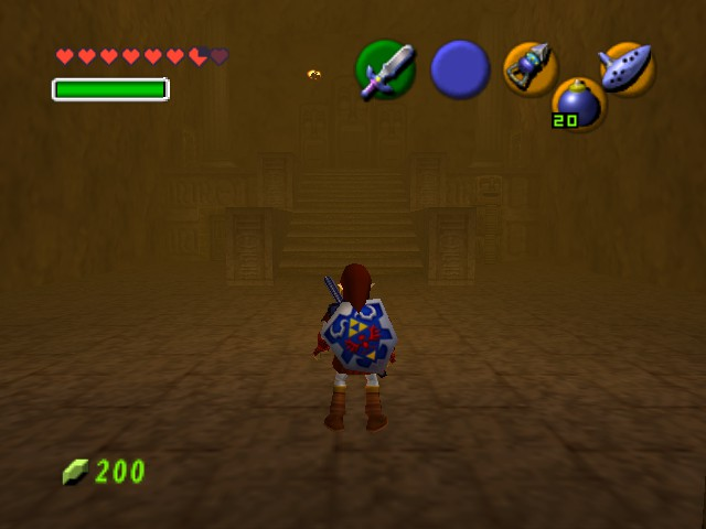 The Legend of Zelda - Ocarina of Time - Level  - Fire Temple - User Screenshot
