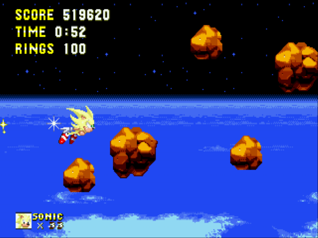 Sonic and Knuckles & Sonic 3 - Battle  - 100 rings - User Screenshot