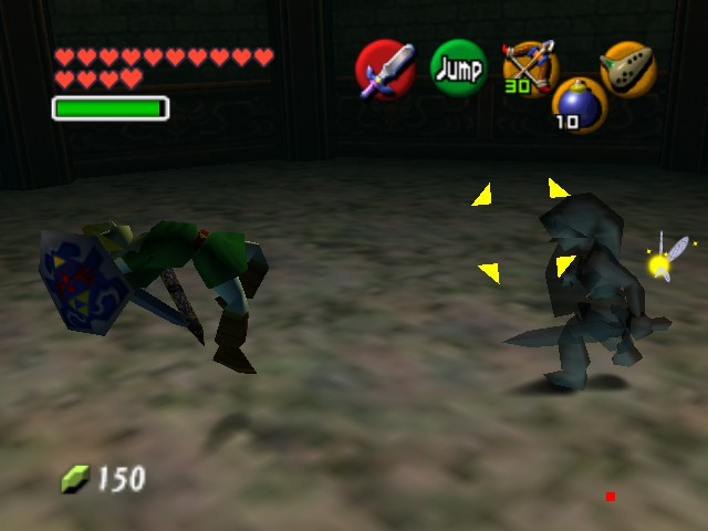 The Legend of Zelda - Ocarina of Time (Debug Edition) - Battle  - Watch my backfliping skills - User Screenshot