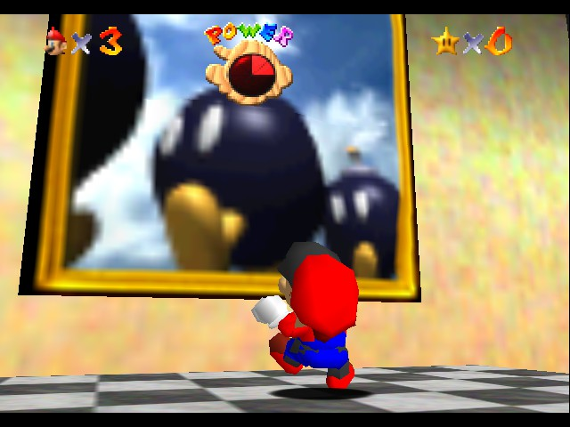 Super Mario 64 - Multiplayer - Location  - Pigpile on red Mario! - User Screenshot