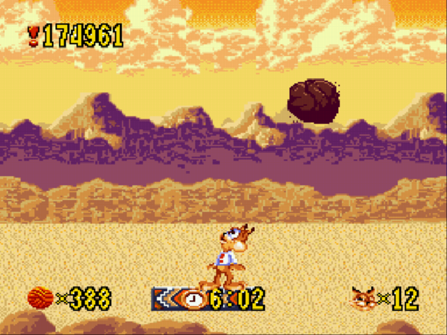 Bubsy - its raining rocks - User Screenshot