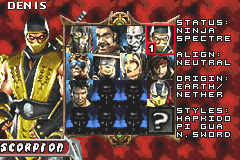 Mortal Kombat - Tournament Edition - Character Profile Scorpion - Scorpion - User Screenshot