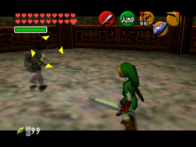 The Legend of Zelda - Ocarina of Time (Debug Edition) - Battle  - Yeah you better run - User Screenshot