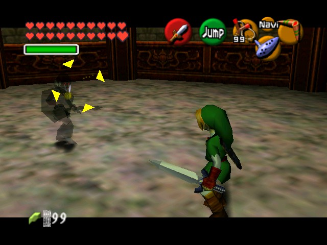The Legend of Zelda - Ocarina of Time (Debug Edition) - Battle  - Dark Link confronted - User Screenshot