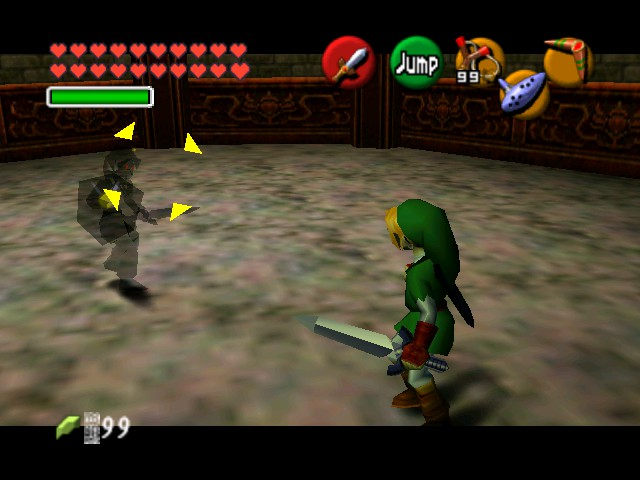 The Legend of Zelda - Ocarina of Time (Debug Edition) - Battle  - Shoot, he