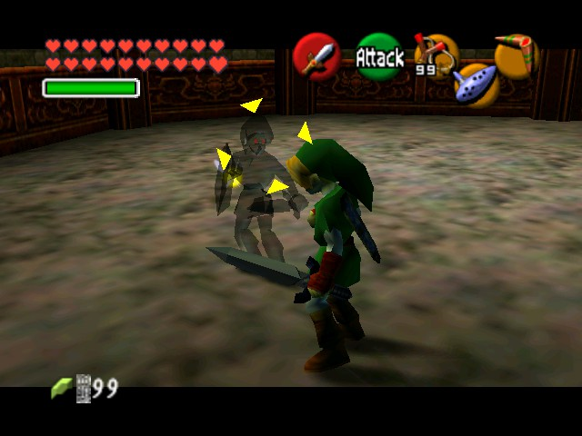 The Legend of Zelda - Ocarina of Time (Debug Edition) - Battle  - A small chat - User Screenshot