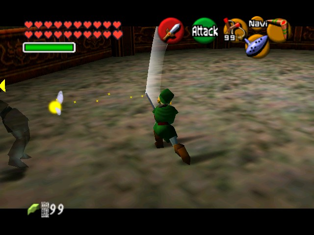 The Legend of Zelda - Ocarina of Time (Debug Edition) - Battle  - Dang, he dodged - User Screenshot