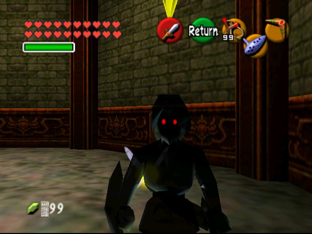 The Legend of Zelda - Ocarina of Time (Debug Edition) - Misc  - Dark Link - User Screenshot