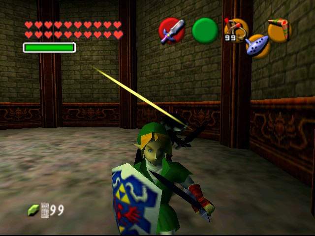 The Legend of Zelda - Ocarina of Time (Debug Edition) - Battle  - Slash 3 - User Screenshot