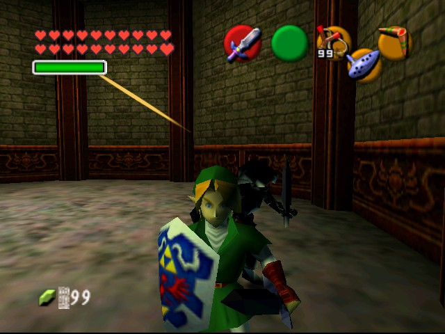 The Legend of Zelda - Ocarina of Time (Debug Edition) - Battle  - Attack 3 - User Screenshot