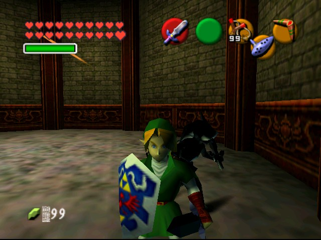 The Legend of Zelda - Ocarina of Time (Debug Edition) - Misc  - And here we see Dark Link running like a spaz - User Screenshot