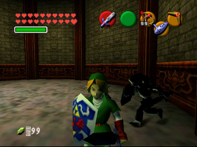 The Legend of Zelda - Ocarina of Time (Debug Edition) - Battle  - Slash 1 - User Screenshot