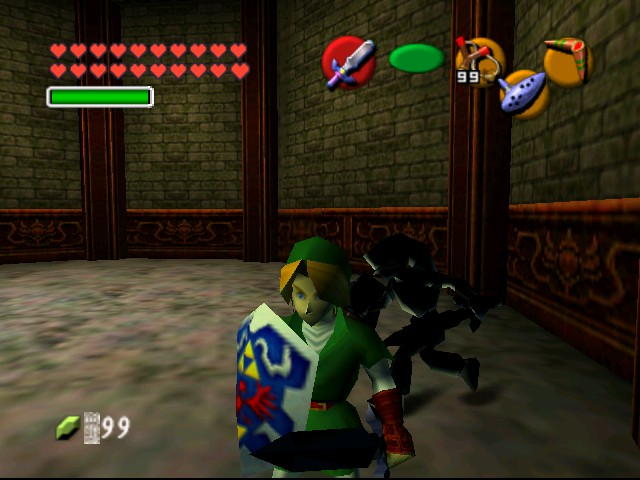 The Legend of Zelda - Ocarina of Time (Debug Edition) - Misc  - Classic Dark Link in background - User Screenshot