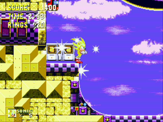 Sonic and Knuckles & Sonic 3 - King Super Sonic - User Screenshot