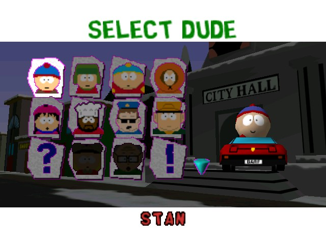 South Park Rally - Character Select  - Stan - User Screenshot