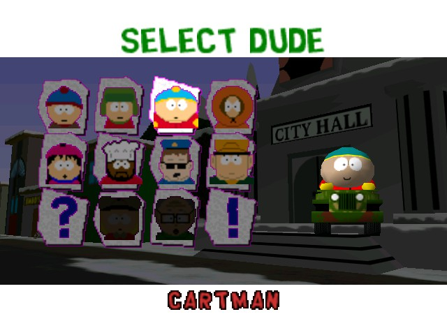 South Park Rally - Character Select  - Cartman - User Screenshot