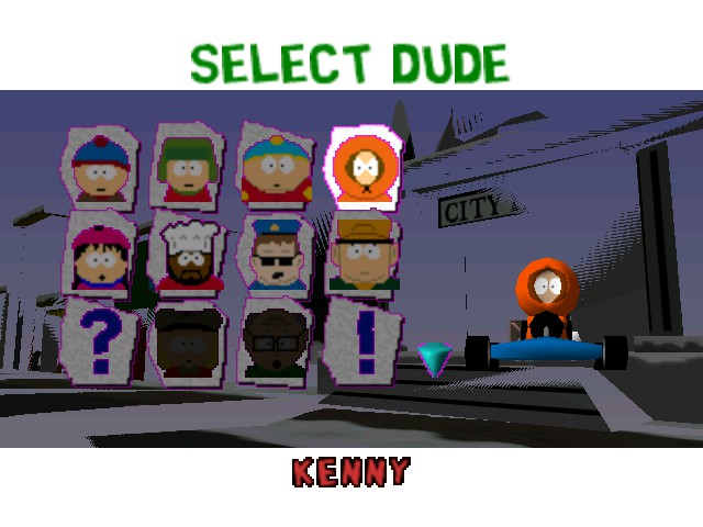 South Park Rally - Character Select  - Kenny - User Screenshot