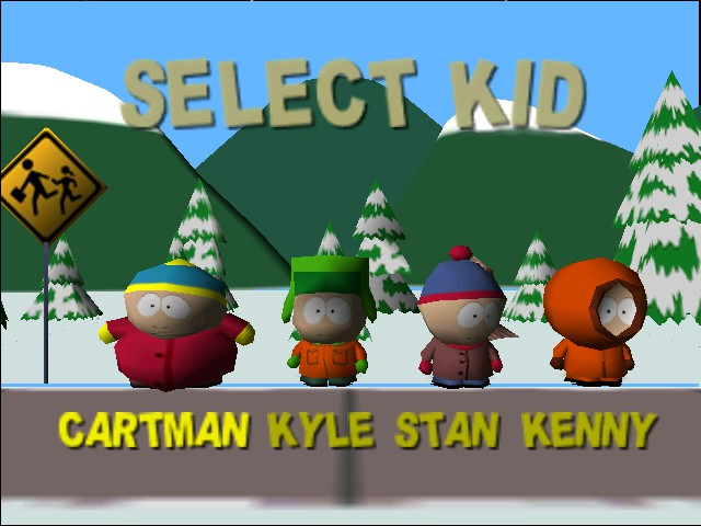 South Park - Character Select  - Cartman Kyle Stan Kenny - User Screenshot