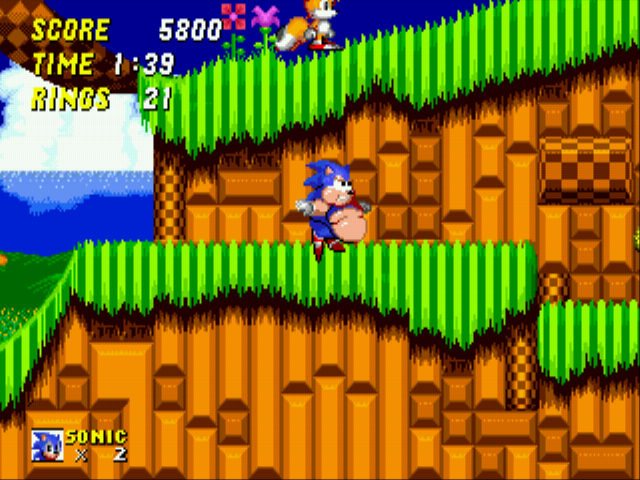 Sonic 2 XL - C-cant... reach... tails... - User Screenshot
