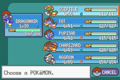 Pokemon Shiny Gold - Character Profile  - my team at cerulean city - User Screenshot
