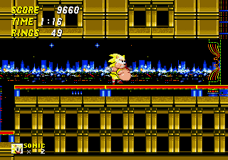 Sonic 2 XL - Level  - Fat SUPERSONIC!?!? O_e - User Screenshot