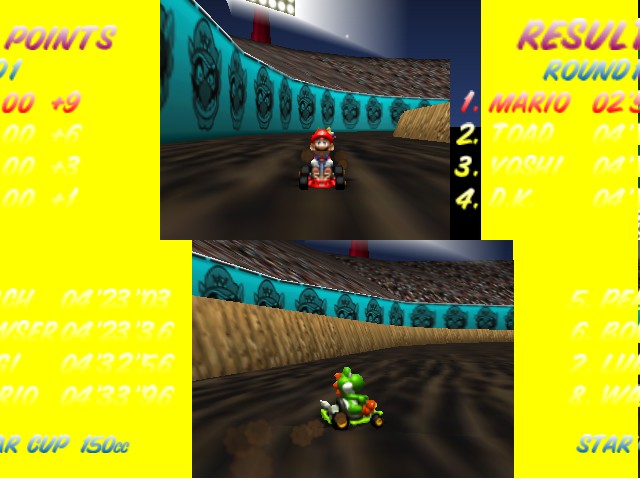 Mario Kart 64 - Level Wario Stadium - BEATING COMPETITION BY 2 MINS NO BIG  - User Screenshot