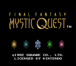 Final Fantasy - Mystic Quest - Title Screen - User Screenshot