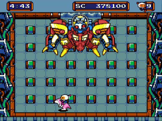 Mega Bomberman - Battle  - Showdown with the boss! - User Screenshot