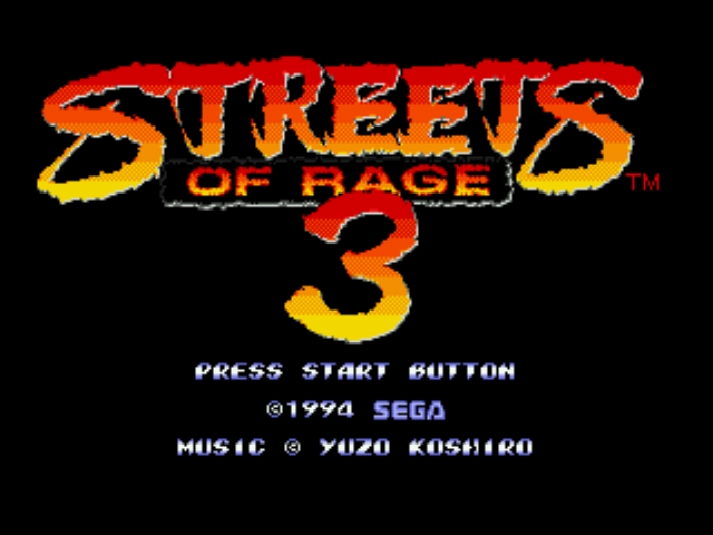 Streets of Rage 3 - Introduction  -  - User Screenshot