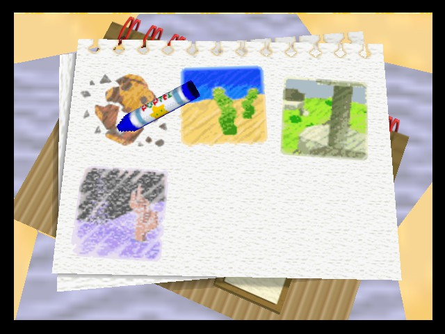 looks like ribbon drew these world maps herself unless it was adeleine
