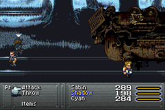 Final Fantasy VI Advance - Battle  - Sabin derailed a train with his bare hands. - User Screenshot