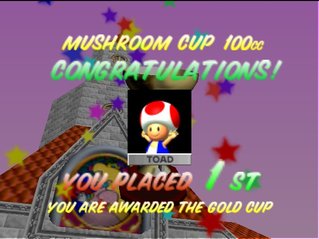 Mario Kart 64 - Yay I won!!!!  - User Screenshot