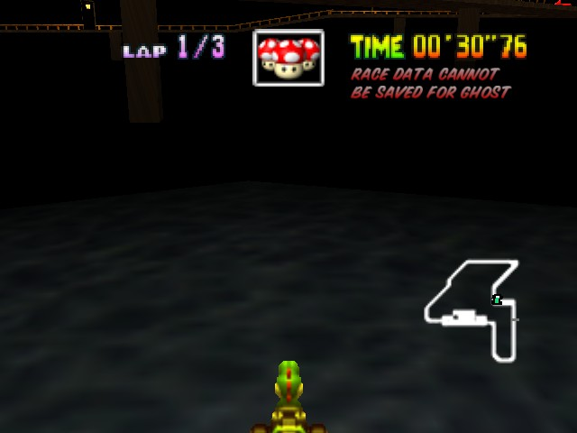 Mario Kart 64 - Yoshi thinks he can drive on water... - User Screenshot