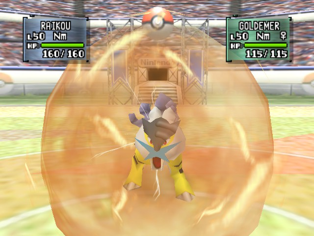Pokemon Stadium 2 - Raikou used shock roar! - User Screenshot