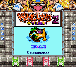 Wario Land 2 - Nusumareta Zaihou - the game with a nice border backround - User Screenshot