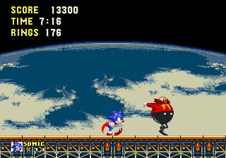 Sonic and Knuckles & Sonic 3 - Cut-Scene  - Man, this fatty can run! - User Screenshot