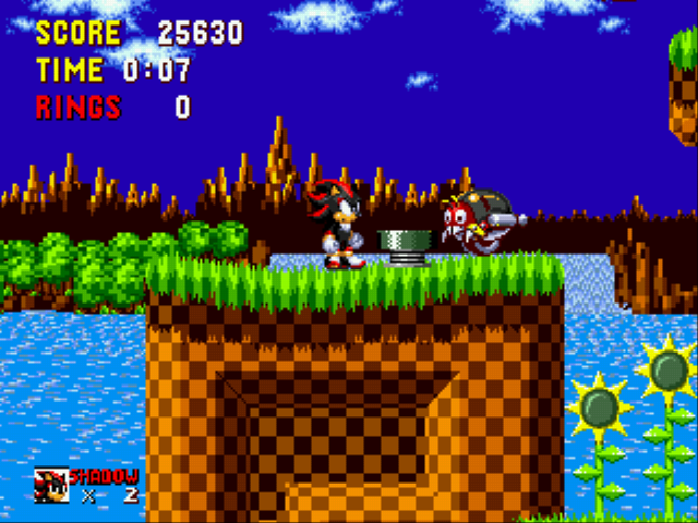 Shadow the Hedgehog - What? the spring are green - User Screenshot