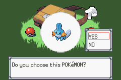 Pokemon Burning Ruby - Oh god! Mudkip looks high! - User Screenshot