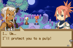 Summon Night - Swordcraft Story 2 - Protect her? just say what u really mean dude - User Screenshot