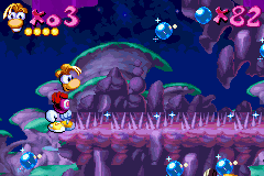 Rayman Advance - Stuck On Spiky Part Of Creepy Level - User Screenshot