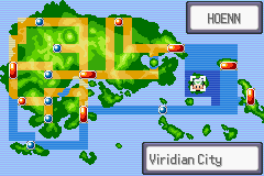 Pokemon Saga - DarkViolet (beta 1) - Virdian City aint in Hoenn u stupid map!!!!!! - User Screenshot