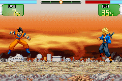 Dragon Ball Z - Supersonic Warriors - Battle  - Gohan: Trunks you failed to beat 18! FIGHT ME - User Screenshot