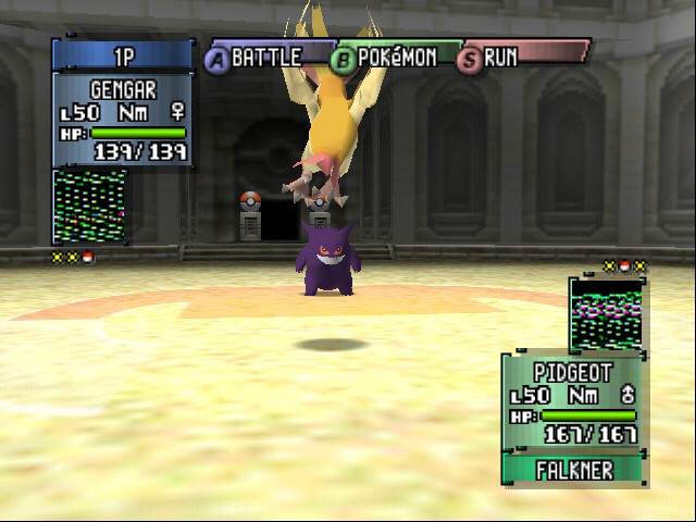 Pokemon Stadium 2 - why is pidgeot showing its butt? - User Screenshot